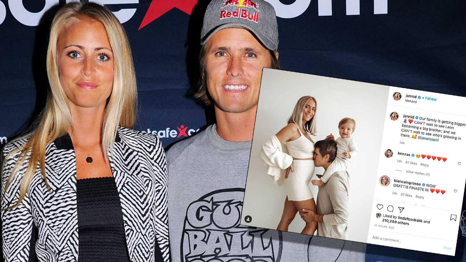 Janni och Jon Olsson Delér har fått sitt andra barn