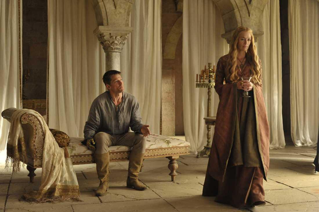 Jaime Lannister (Nikolaj Coster-Waldau) och Cersei Lannister (Lena Headey).