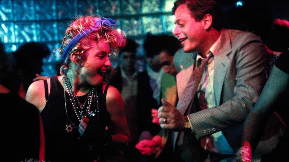 """Mark Blum och Madonna i filmen """"Susan, var är du?""""."""