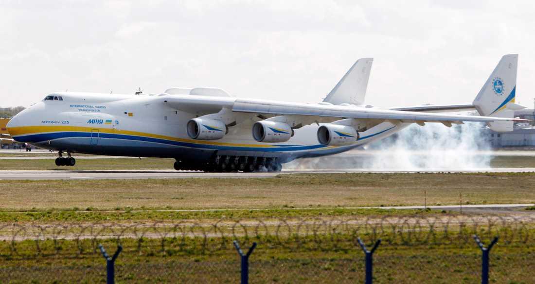 Världens största lastplan Antonov-225 har levererat skyddsutrustning till vårdpersonal från Kina till Ukraina. Arkivbild.