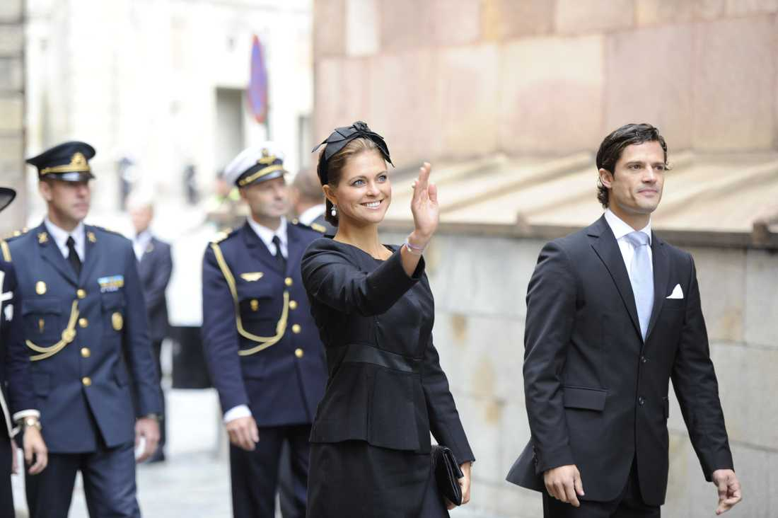 Prinsessan Madeleine och prins Carl Philip.
