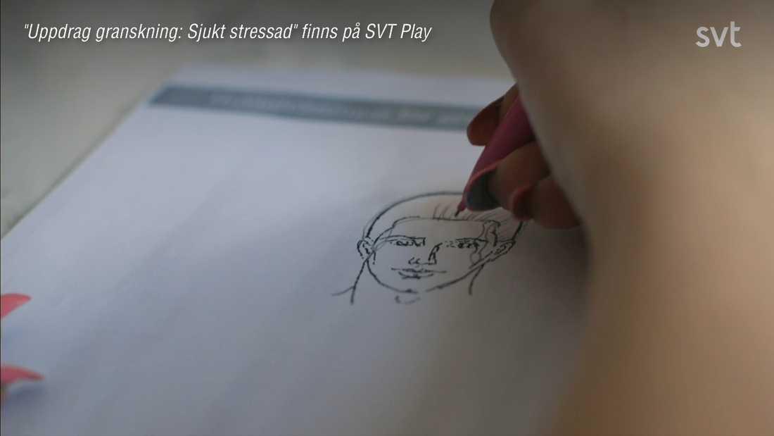 Emma Hagen, 18, berättar om sin stress.