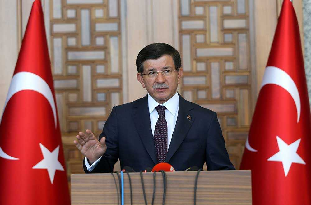 Turkiets premiärminister Ahmet Davutoğlu.