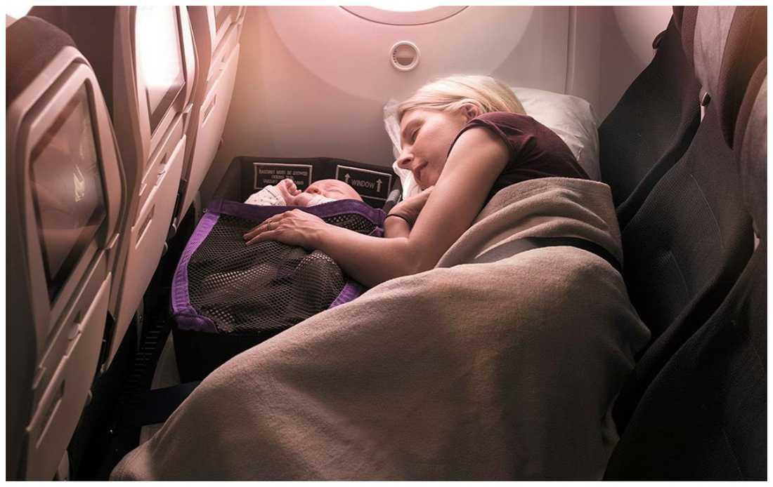 Flygbolaget Air New Zeeland har nya säten - där barn kan sova tillsammans.