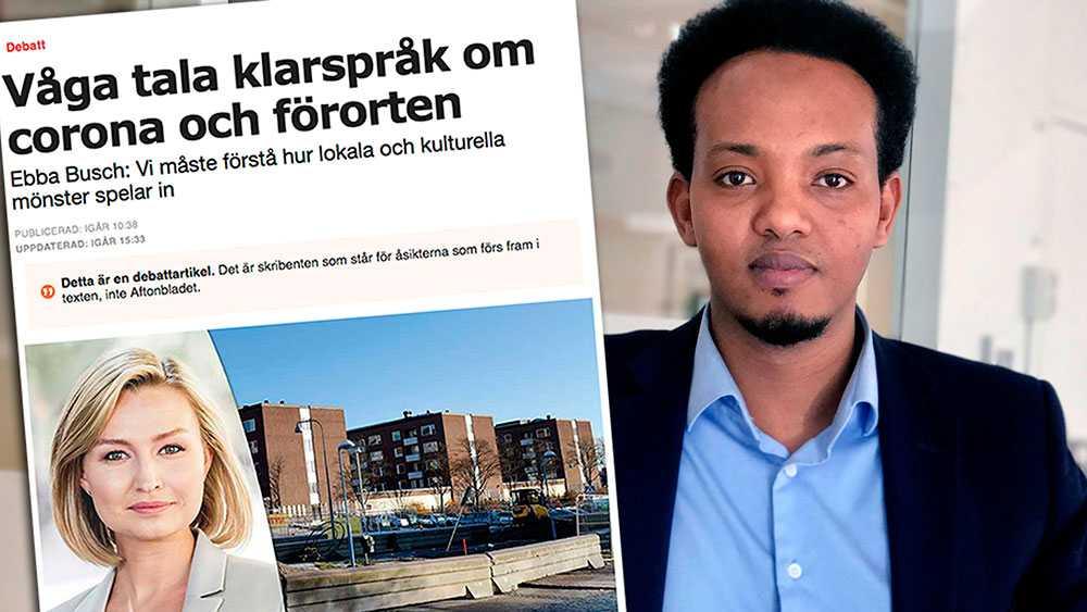 I ett land som Sverige där allmänbildade är fler än okunniga väljer du Ebba Busch att visa upp okunskap mitt under krisen. Coronaviruset diskriminerar inte – men det gör du när du klandrar en etnisk grupp, skriver Habane Hassan, Somaliska riksförbundet.