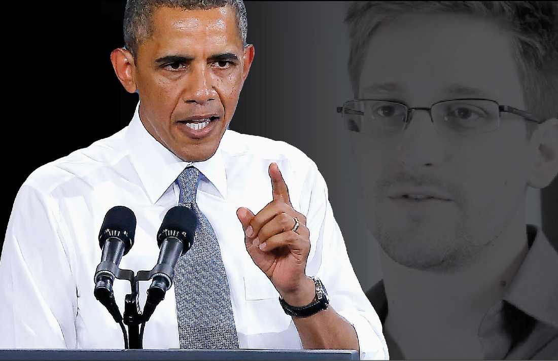Sur på putin  Om fyra veckor landar Barack Obama på svensk mark, följd av en hord journalister och hundratals Secret Service-agenter. Men innan vi storknar av svensk bespegling, måste vi komma ihåg varför han kommer hit. Han är sur på Putin för att han gett Snowden asyl.