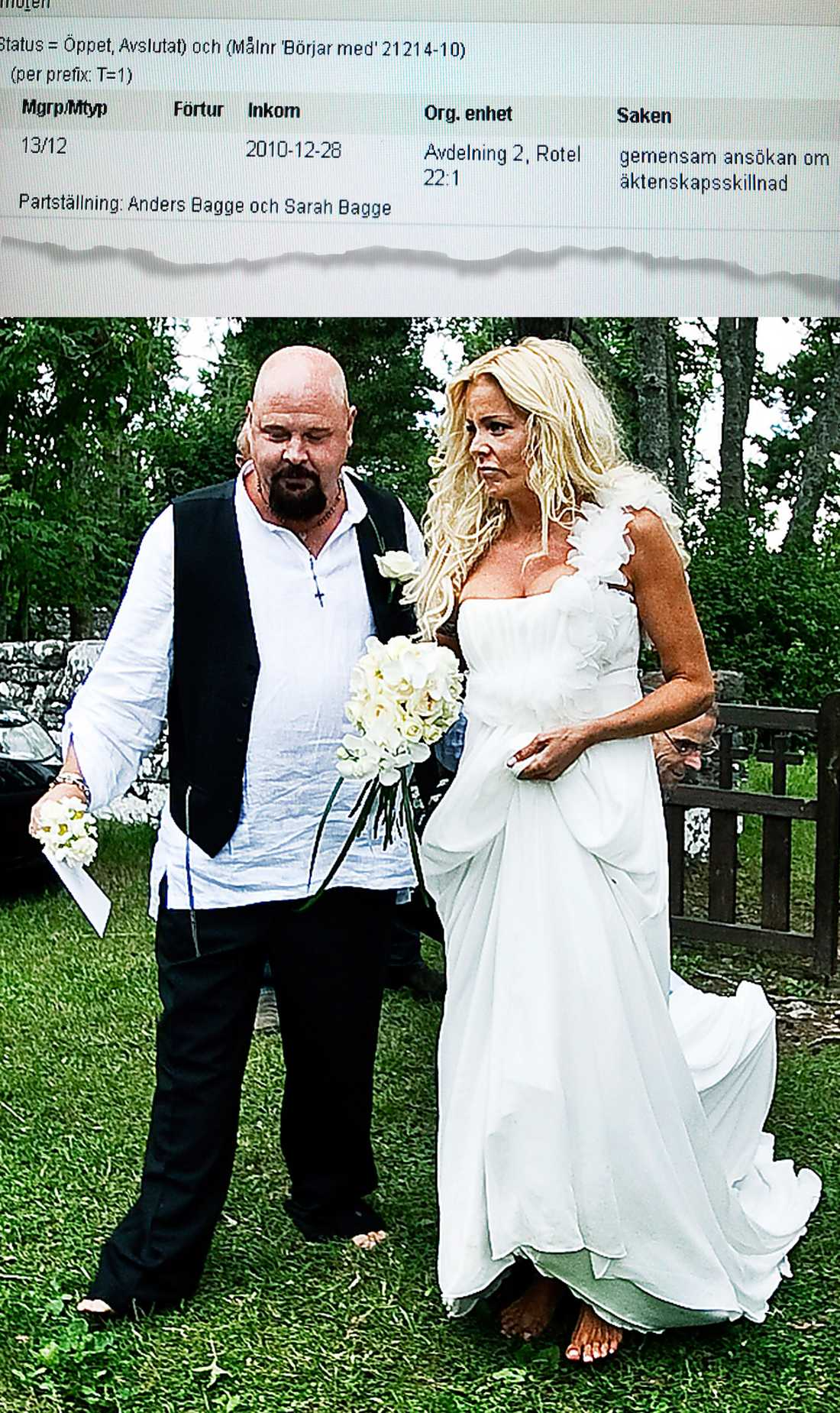 SOMMARBRÖLLOP Anders Bagge och Sarah Johansson gifte sig på norra Gotland i somras.