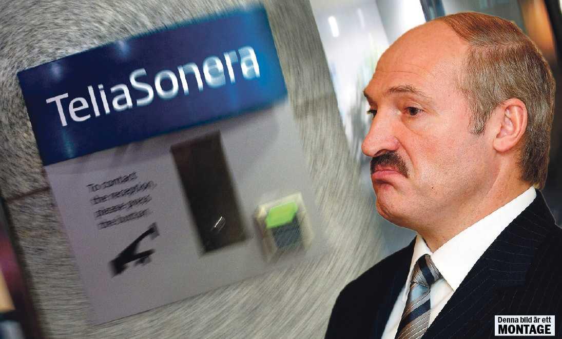 """Luddigt förhållande  Aljaksandr Lukasjenka får hjälp av svenskfinska Teliasonera att övervaka och förfölja befolkningen i Vitryssland, avslöjade SVT:s """"Uppdrag granskning"""" i går."""
