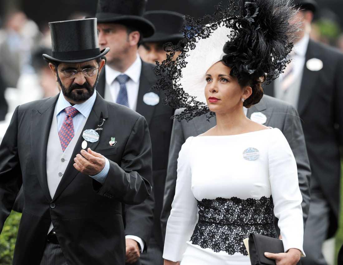 Schejk Mohammed Bin Rashid Al Maktoum och prinsessan Haya Bint Al Hussein av Jordanien.
