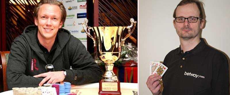 Svenska mästare spelar Pokerfinnkampen Carl-Johan Geijer och Ola Brandborn är klara för spel i årets upplaga av tävlingen.
