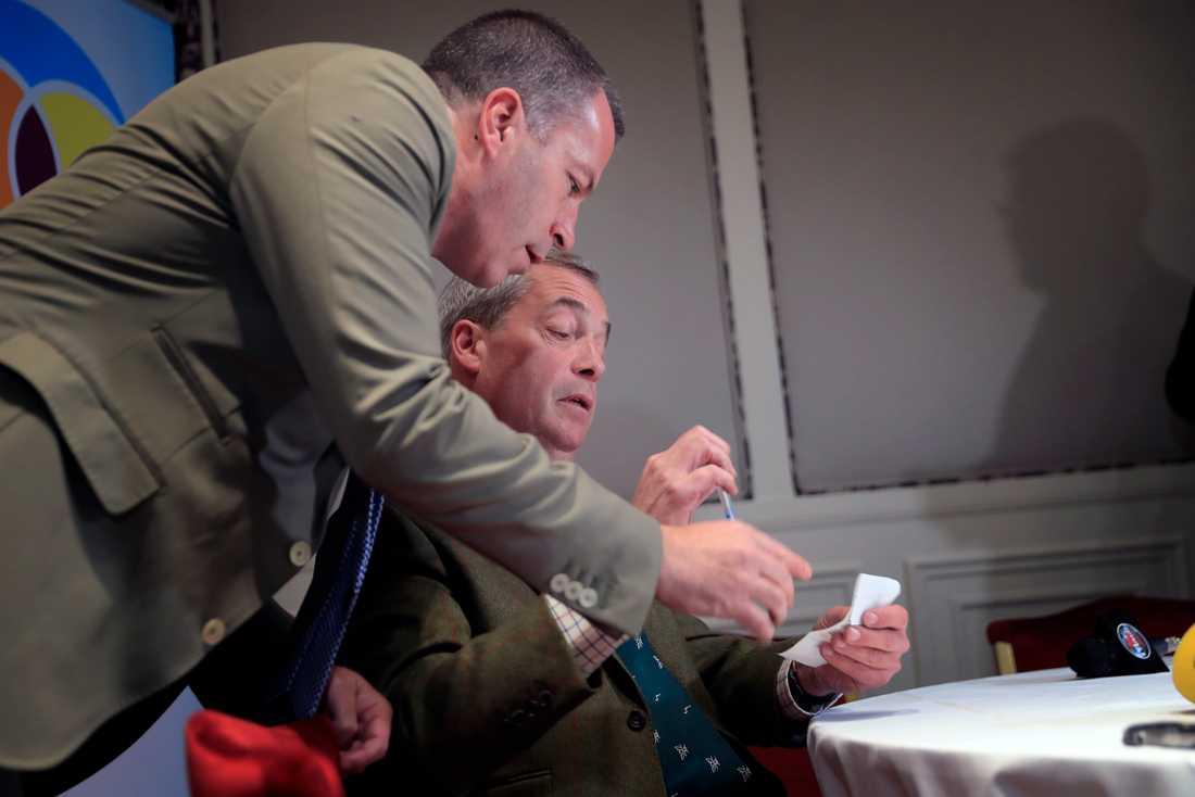 Nigel Farage på Grand Hotel.