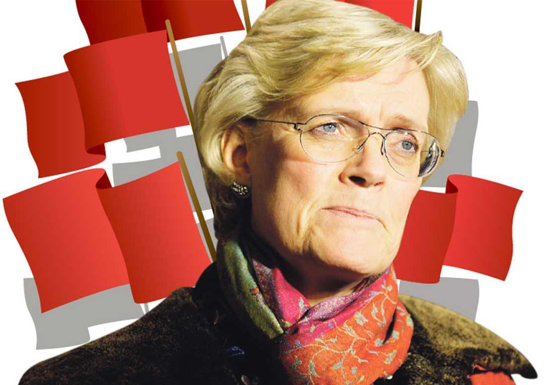 """OMRINGAD AV YTTERKANTEN Förslaget om vinstbegränsningar är """"ett ingrepp i den privata företagsamheten och äganderätten"""" och framdrivet av ytterkantspolitik, enligt Svenskt Näringslivs vd Carola Lemne. Men faktum är att åtta av tio svenskar ställer sig positiva till förslaget."""