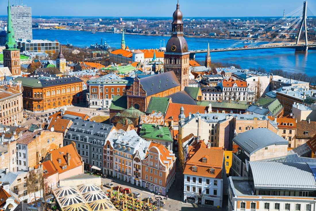 Rigas gamla stad är ett världsarv.