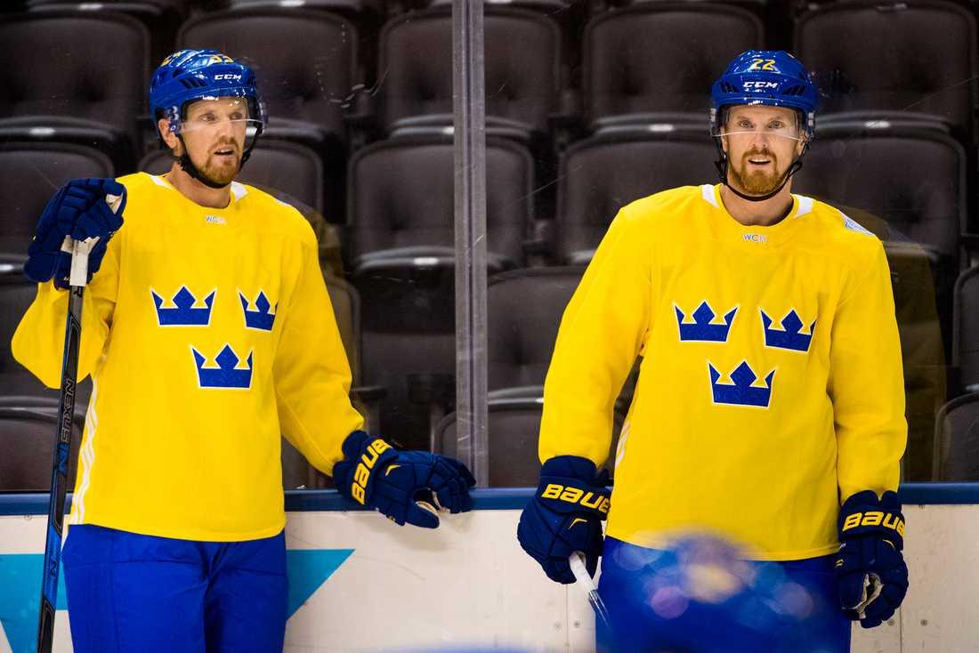 Henrik och Daniel Sedin under World Cup i fjol.