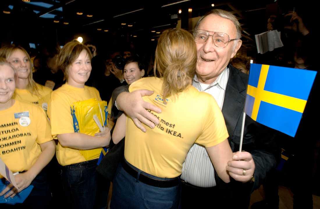Ingvar Kamprad på Ikea i Haparanda.