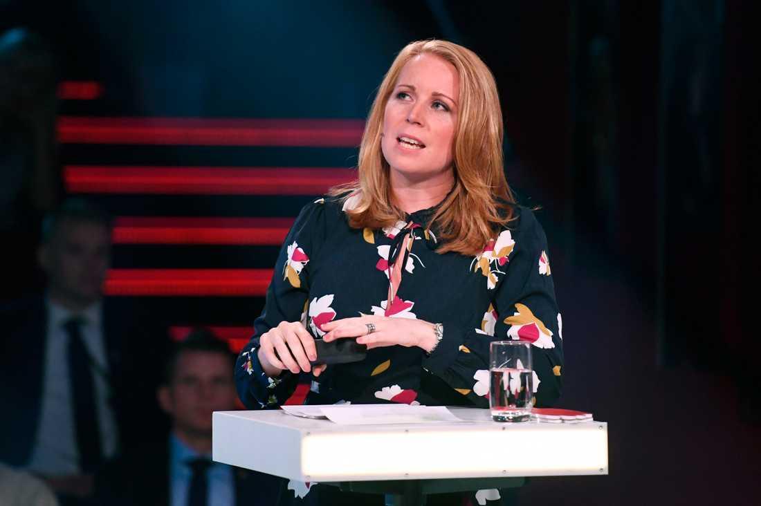 Annie Lööf i Aftonbladet debatt.
