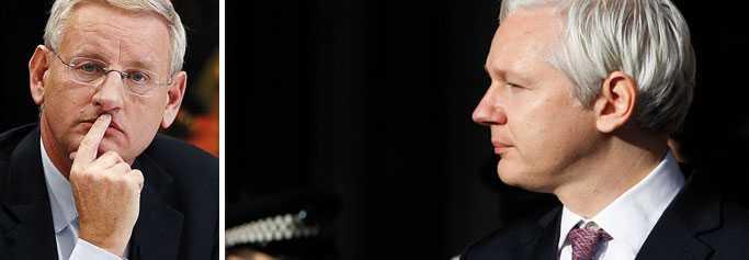 Wikileaks menar att de har dokument som visar att Carl Bildt är informatör för USA.