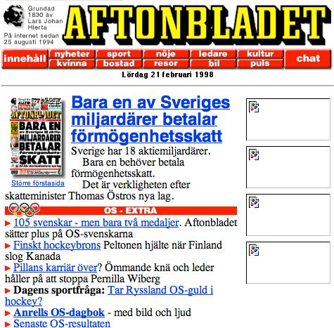 Aftonbladet 1998.