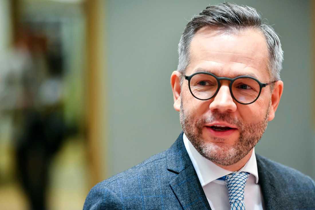 Tysklands EU-minister Michael Roth laddar för höstens ordförandeskap i EU:s ministerråd. Arkivbild.