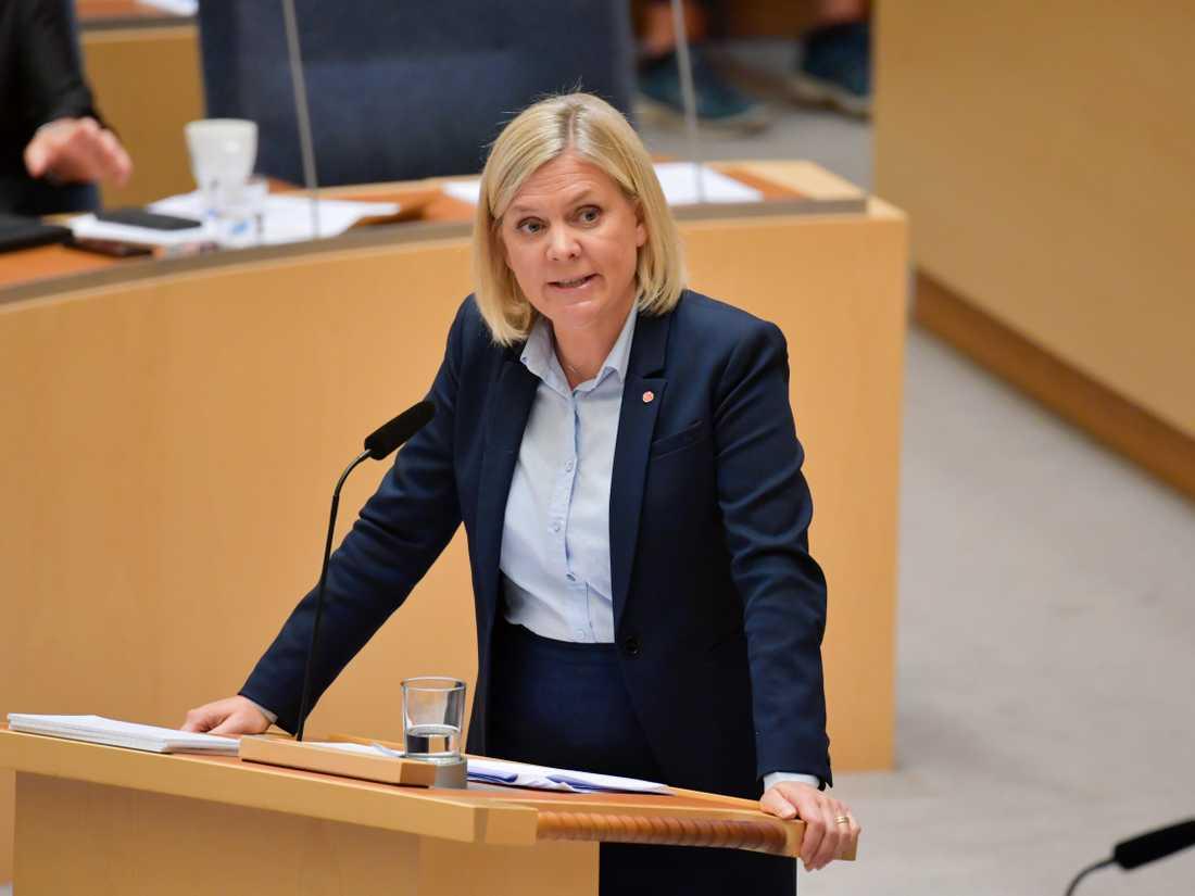 Finansminister Magdalena Andersson (S). Arkivfoto.