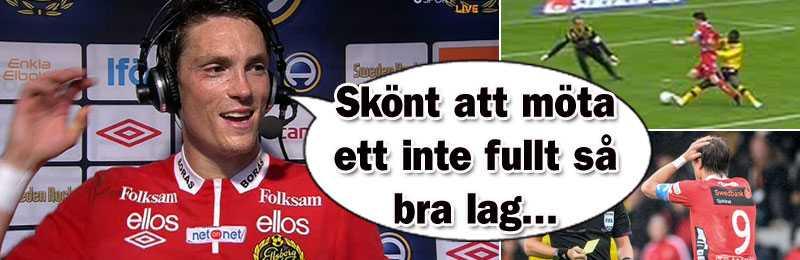 Lasse Nilsson fixade först straff, utvisning och mål - innan han själv visades ut i andra halvlek.