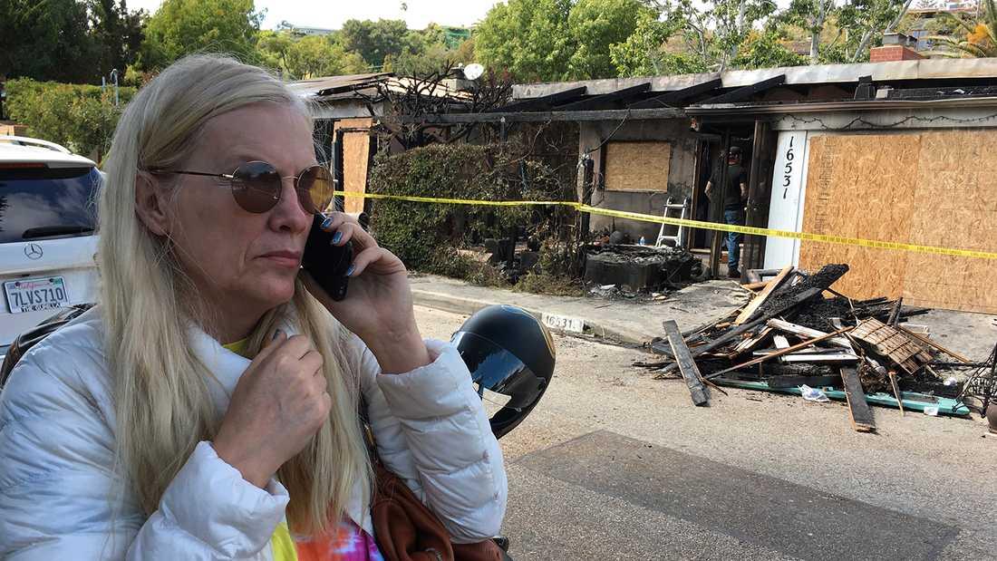 Gunilla Persson fick sitt hem brandhärjat i påskhelgen.
