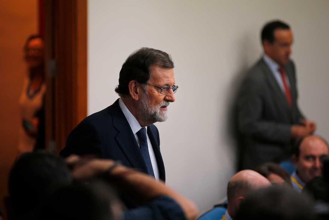 Mariano Rajoy i premiärministerpalatset Moncloa på onsdagen.