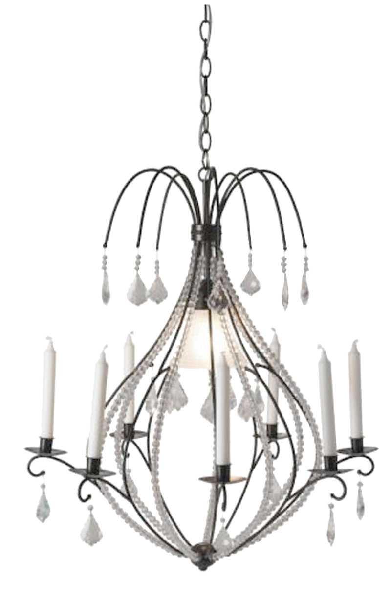 MULTIFUNKTIONELL. Nätt takkrona med både lampa och levande ljus, Ikea, 699 kr.
