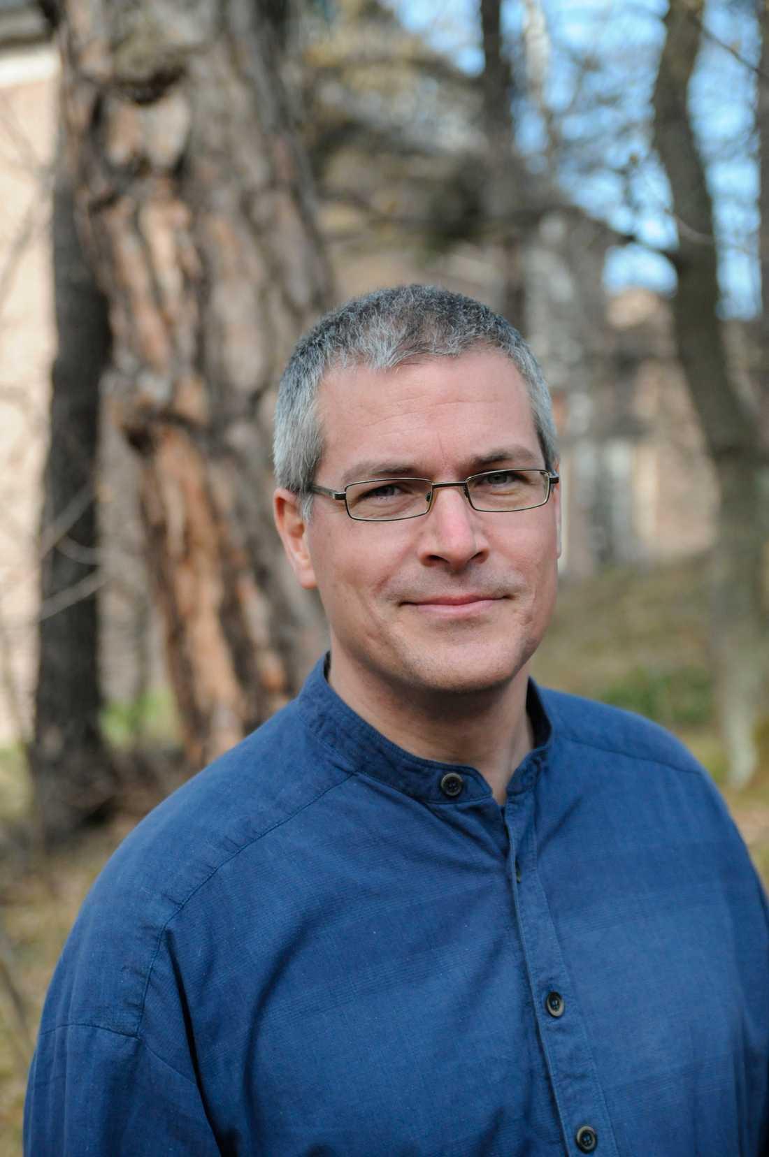 Didrik Vanhoenacker, jourhavande biolog på Naturhistoriska riksmuseet.