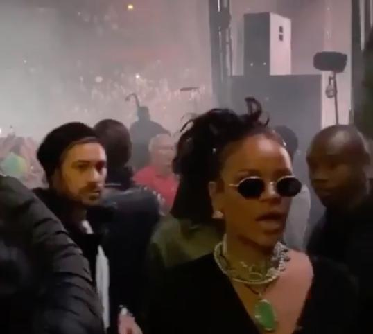 Rihanna på Asap Rockys konsert i Globen.
