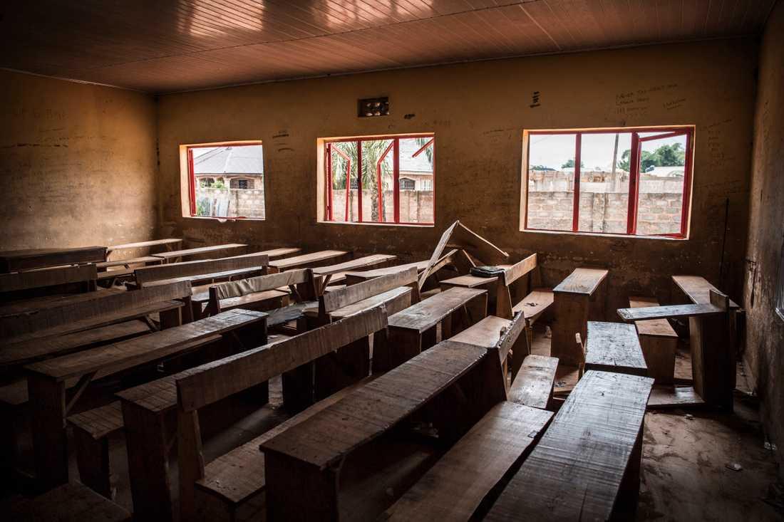 Egba-skolan utanför Benin City i Nigeria.