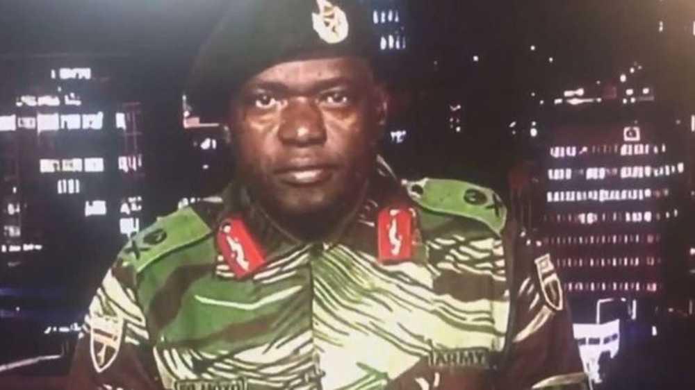 En armétalesperson uttalade sig på tv.