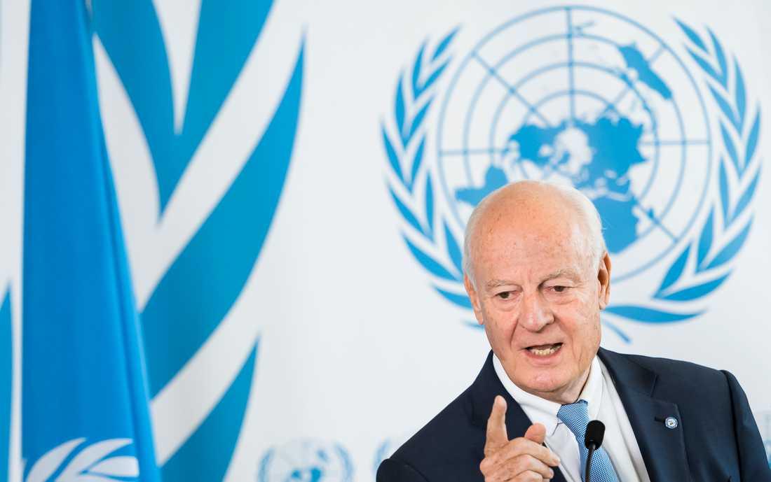 FN:s Syrienssändebud Staffan de Mistura.