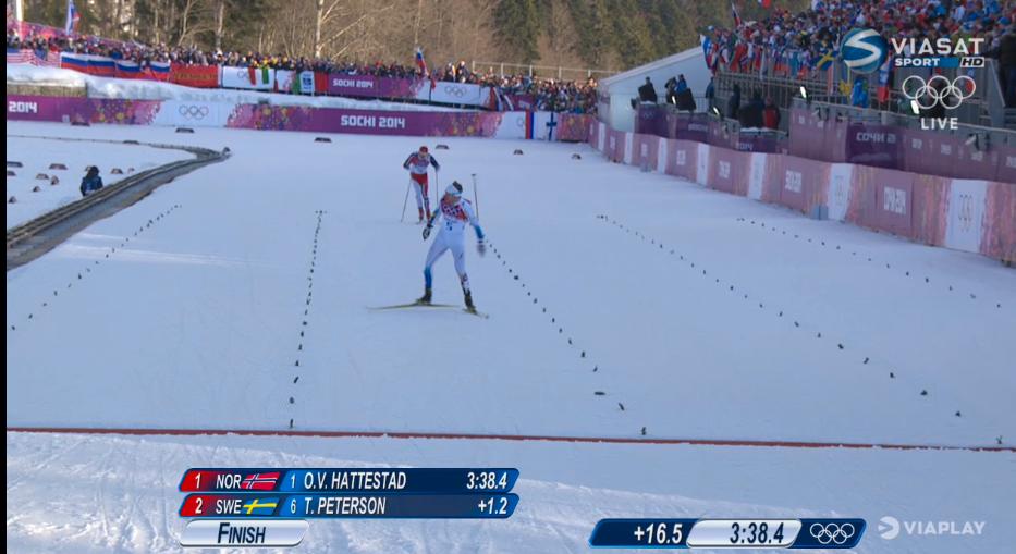 Stax bakom dem kommer … Emil Jönsson – som tar brons före Anders Gloeersen. – Det här var den värsta finalen jag sett. Det värsta skidloppet jag sett, säger Emelie Öhrstig.