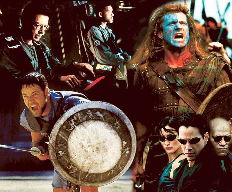 Ur Independence day, Bravehart, Gladiator och Matrix.