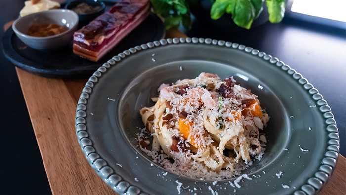 Enkelt att laga i ugn: Krämig pasta som är enkel att laga i ugn.