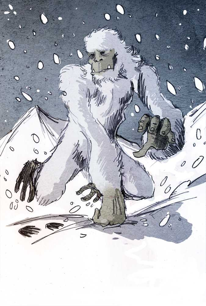 Yeti / Snömannen Illustration: Philippe Semeria /Wikipedia Commons