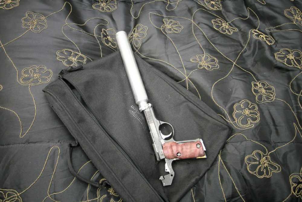 Pistol Hittades av polis i Peter Mangs sovrum.