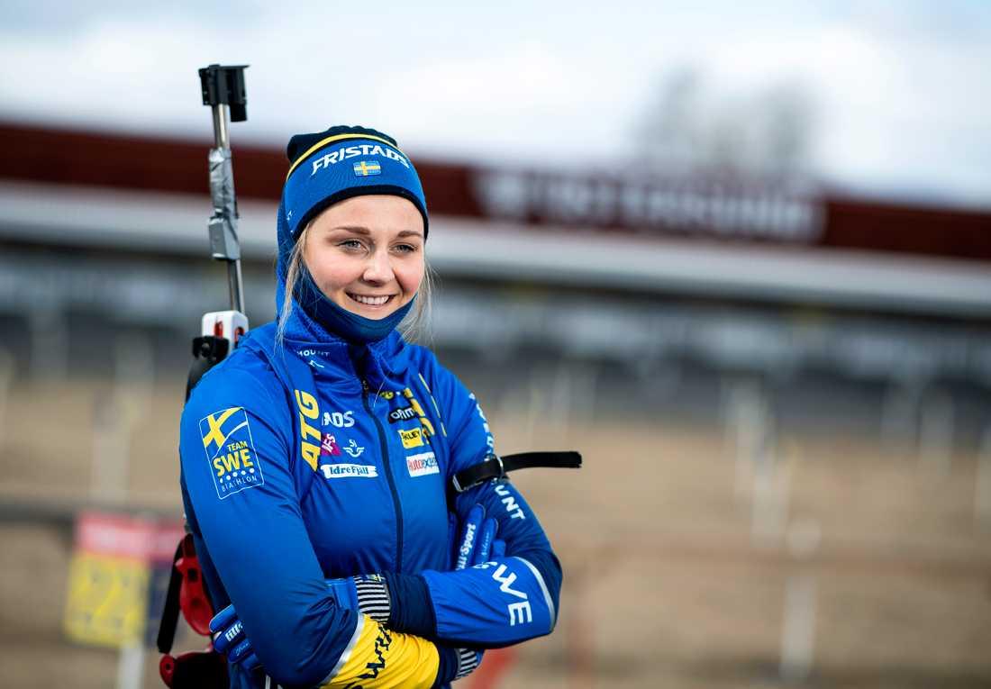 """Får vi se Stina Nilsson i världscupen redan i år? """"Jag tror inte att det är aktuellt i början"""", säger hon själv. Arkivbild."""