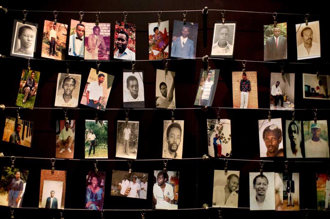 Minnesmonument i Rwanda för de mer än 800 000 personer som dödades under folkmordet i Rwanda.
