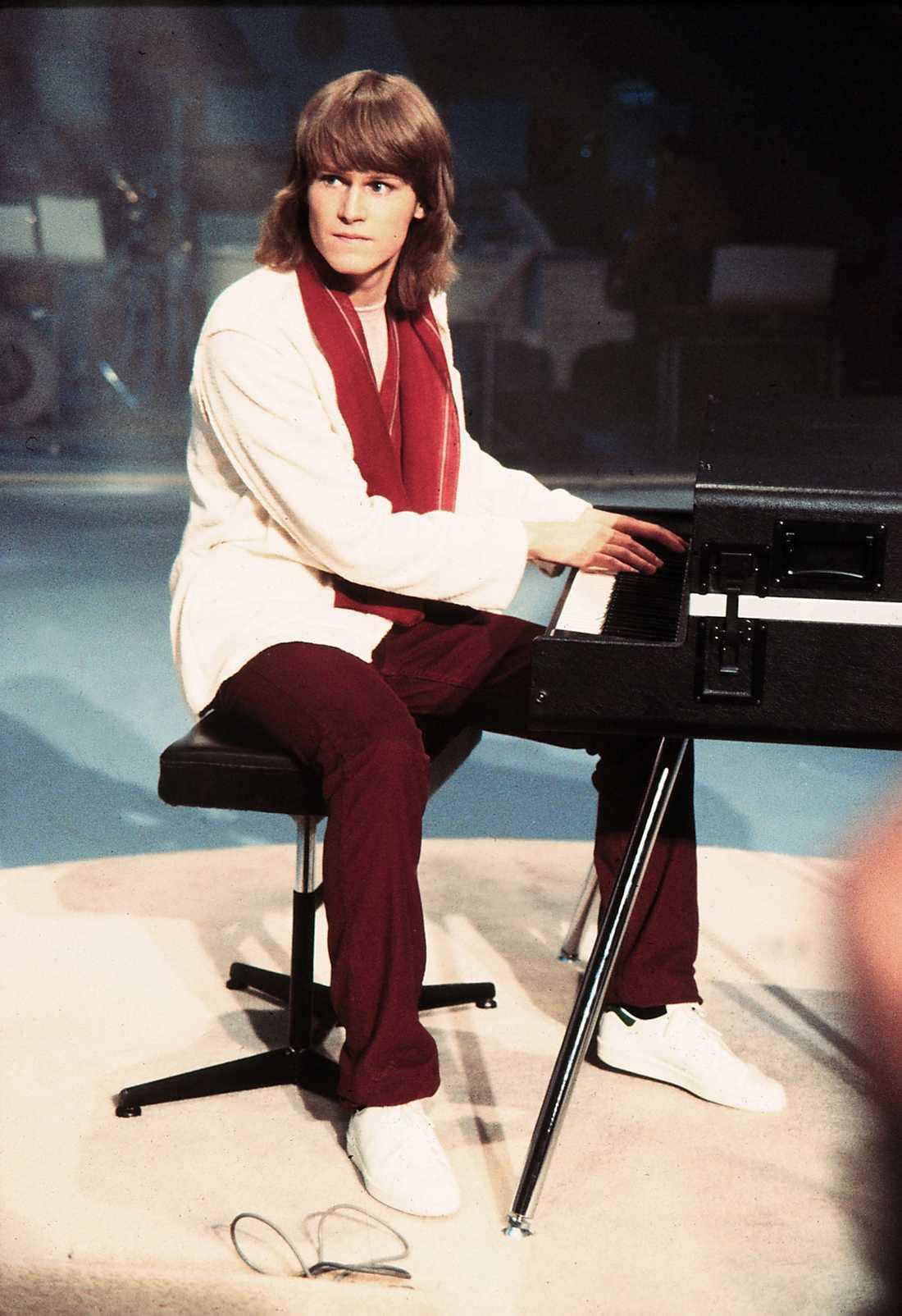 Ted Gärdestad vid Melodifestivalen 1979.