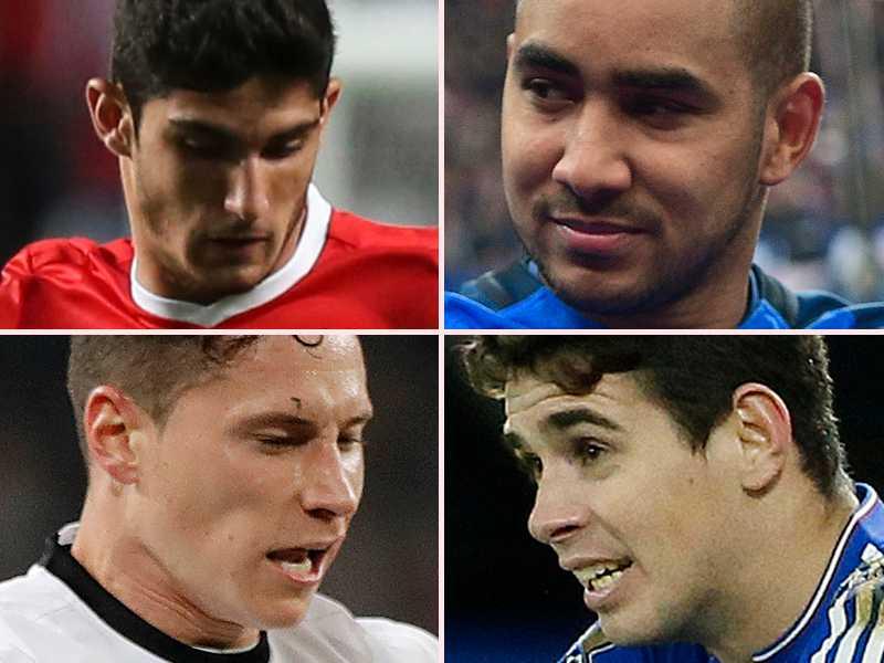 Gonçalo Guedes, Dimitri Payet, Julian Draxler och Oscar.
