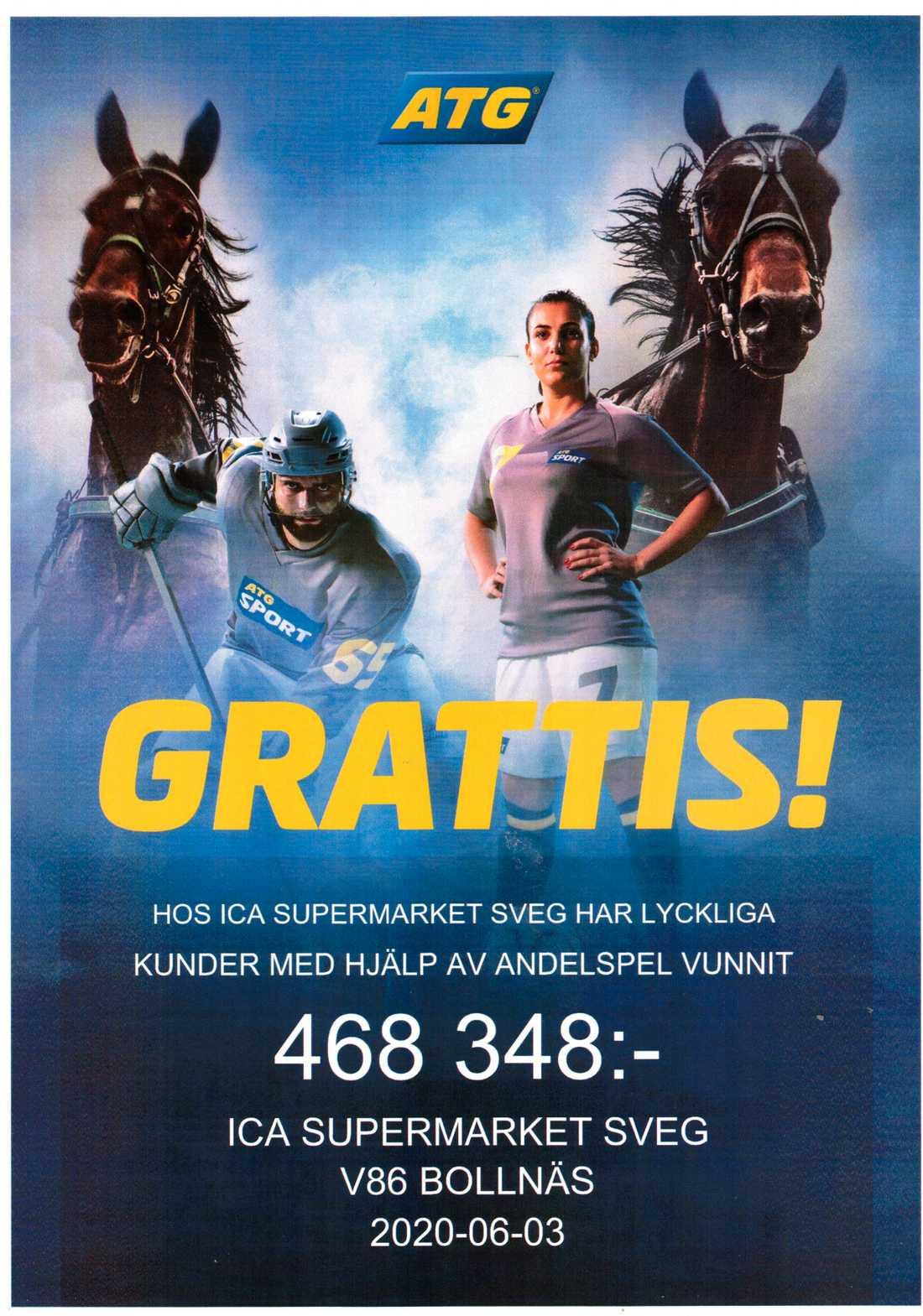 """""""Baben"""" som gör system för ICA Supermarket i Sveg – vann 468 000 kronor till andelsköparna"""