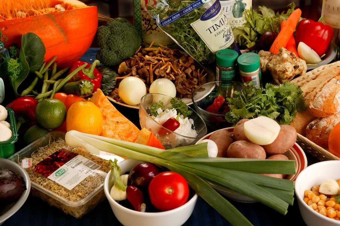 Ekologiska grönsaker från en gård på Gotland.