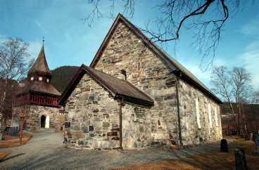 Paret gifte sig i Åre gamla kyrka.