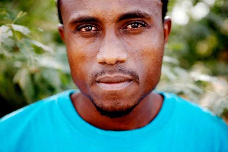 Hjälparbetaren Kamahl Isa Ahmed, UNHCR.