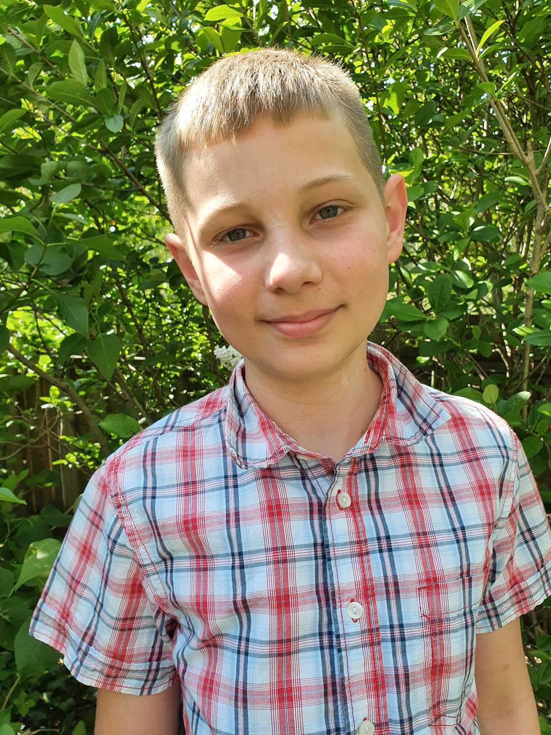 Gabriel är bara elva år men ska redan början nian till hösten.