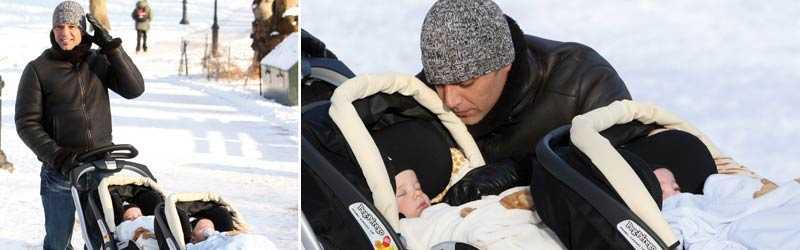 37-åriga Ricky Martin blev pappa till tvillingarna Valentino (till vänster) och Matteo (till höger) genom en surrogatmamma i augusti förra året.