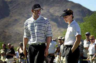 I juli i fjol spelade Tiger Woods och Annika Sörenstam tillsammans mot David Duval och Karrie Webb i USA. Nu ska de två världsettorna möta varandra i Sverige. Kanske redan i sommar.