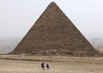 Stängd Keopspyramiden i Giza håller stängt idag.